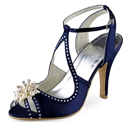 Minitoo Femme Navy 5cm 7 MinitooUK Pour Heel MZ8229 Blue Sandales 4w1qp4a