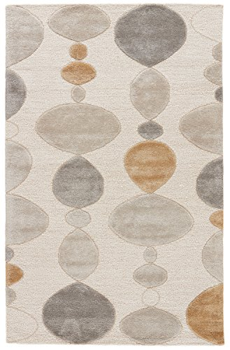 Jaipur Living Creekstone Hand-Tufted Abstract White Area Rug (5' X 8') from Jaipur Living