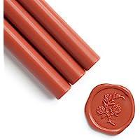 UNIQOOO Mailable Glue Gun Sealing Wax Sticks for Wax Stamp - Terra Cotta Orange, Fall Color Palette for Autumn Wedding…