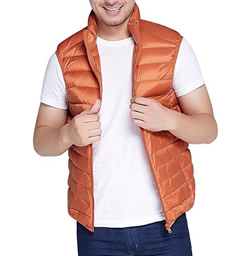 Orange Down Packable Plus MK988 Winter Lightweight Sleeveless Mens Puffer Vest Size wq4pvZC