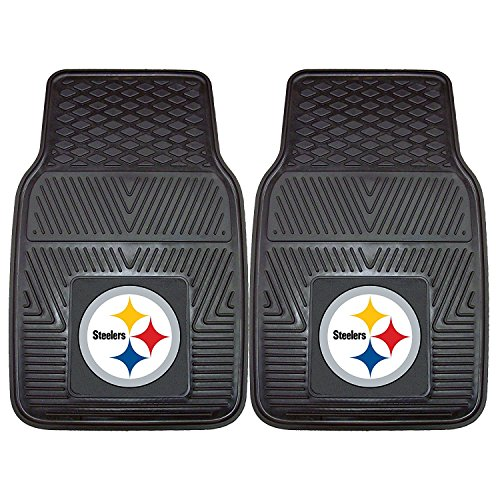 Pittsburgh Steelers Heavy Duty 2 Piece Vinyl Car Mats from Fanmats