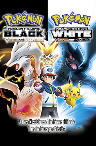 """Price comparison product image Posters USA - Pokemon Black White Victini and Zekrom Movie Poster GLOSSY FINISH - MOV340 (24"""" x 36"""" (61cm x 91.5cm))"""