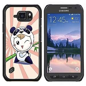 Caucho caso de Shell duro de la cubierta de accesorios de protección BY RAYDREAMMM - Samsung Galaxy S6Active Active G890A - Naturaleza Árbol rosado