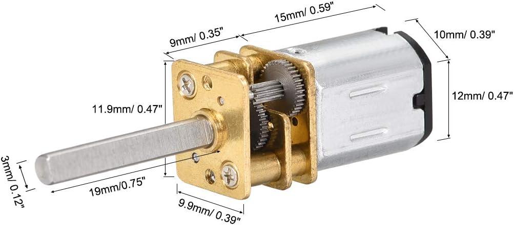 sourcing map Micro Moteur/éducteur DC 3V 100RPM Moteur /électrique vitesse Pour bricolage RC Jouets