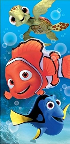 [Disney Finding Nemo, Dory, and Squirt Turtle Fiber Reactive Cotton Beach Towel 30x60 Inches] (For Rent Disney Costumes)