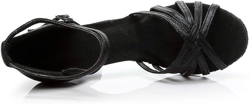 NAIHEN Nouvelles Femmes Latin Ballroom Tango Chaussures de Danse Chaussures de Danse en Satin pour Dames Salsa Femmes Chaussures