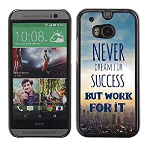 Paccase / SLIM PC / Aliminium Casa Carcasa Funda Case Cover para - Sky Cityscape Text Poster - HTC One M8