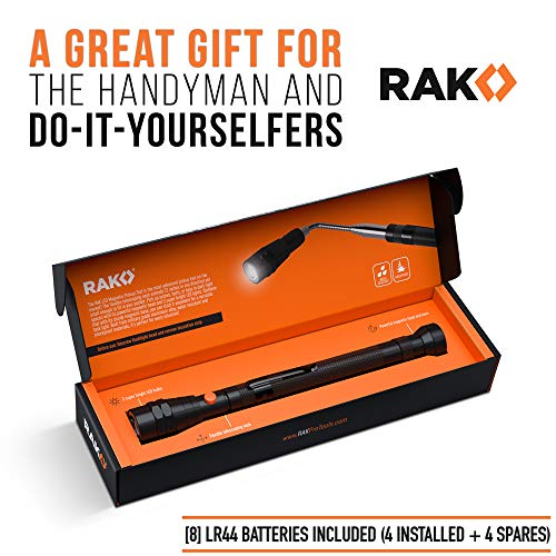 RAK Magnetic Pickup Tool with LED Lights – Telescoping Magnet Pick Up Gadget Tool for Men, DIY Handyman, Father/Dad…