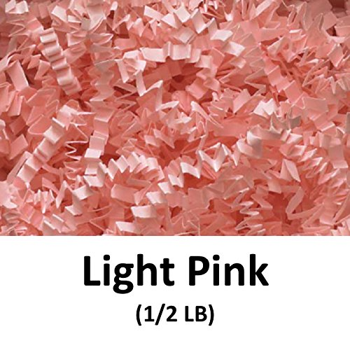 Light Pink Gift (Crinkle Cut Paper Shred Filler (1/2 LB) for Gift Wrapping & Basket Filling - Light Pink | MagicWater Supply)
