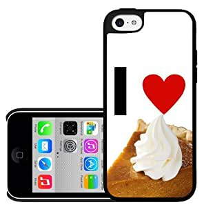 I Love Pumpkin Pie with Whipped Cream Topping Hard Snap on Cell Phone Case Cover iPhone (5c)