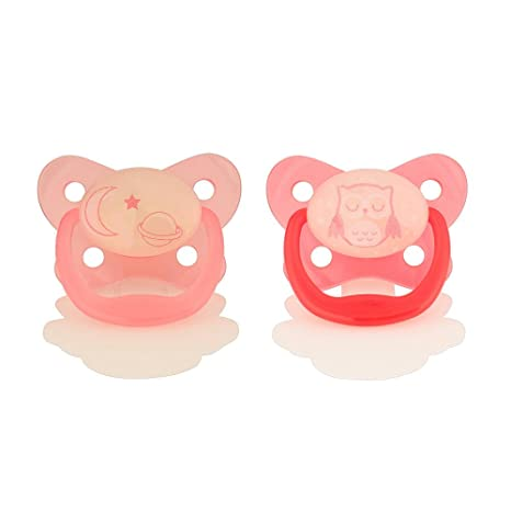 Dr. Browns 6-12 Months Glow in the Dark Pacifier - Girl by ...