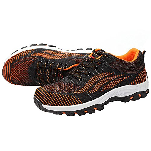 Bright Work Shoes Orange Shoes Toe Optimal Safety Steel Shoes Men's HxRPnqU8