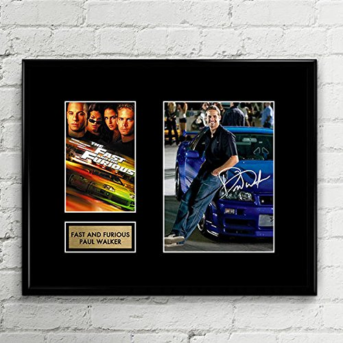 Walker Signed Photo - Paul Walker Fast and Furious Signed Autographed Photo Mat Custom Framed 11 x 14 Replica Reprint Rp