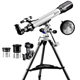 Solomark Telescope 70EQ Refractor Telescope Scope - 70mm Aperture and 700mm Focal Length, Multi-layer Green Film