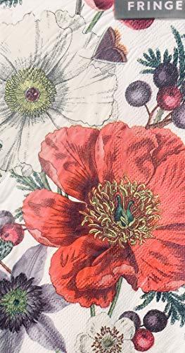 (Fringe Cedar Berry Guest Towels Hostess Buffet Paper Napkins (871001), 32 pcs)
