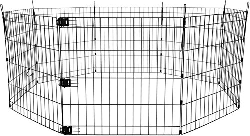 AmazonBasics Foldable Metal Exercise Playpen