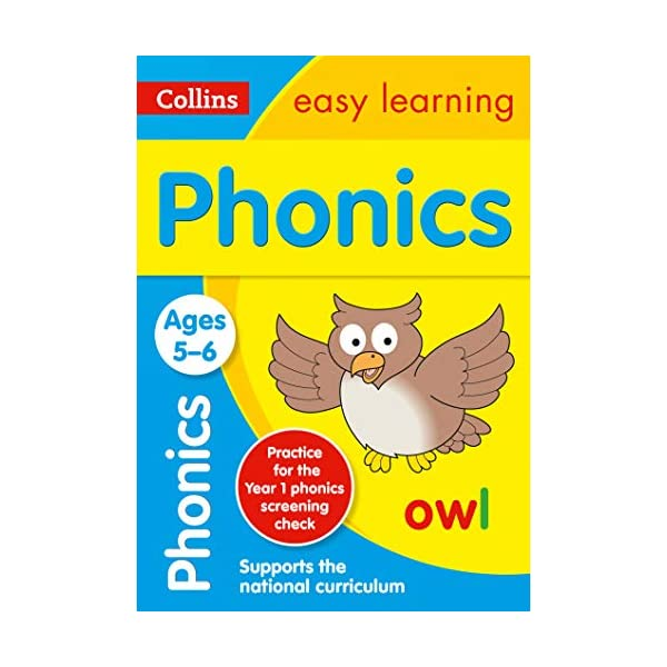 Phonics-Ages-5-6-Prepare-for-school-with-easy-home-learning-Collins-Easy-Learning-KS1-Paperback--26-Jun-2015