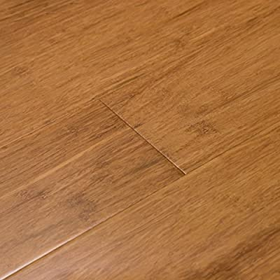 Cali Bamboo - Solid Click Bamboo Flooring, Mocha Brown, Carbonized - Sample