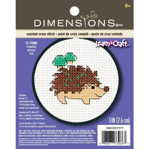 Dimensions Crafts Counted Stitch Hedgehog