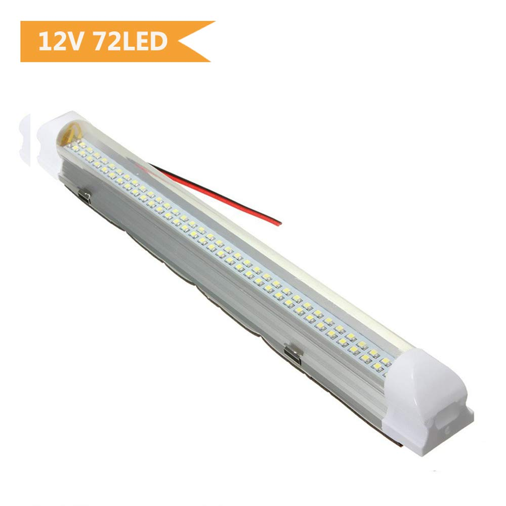 Interior Lights, AUDEW DC12V 4.5W 72 LEDs Lights Bar Strip Lamp Universal Lighting Up for Car Camper Van Bus Caravan Boat Motorhome Kitchen Bathroom 340MM ON/OFF Switch