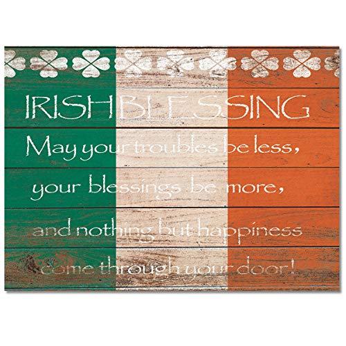 Area Rugs 4'x6' St. Patrick's Day Theme Irish Blessing Indoor Modern Carpets for Living Room/Bedroom/Kitchen Home Decor,Non-Slip Rubber Backing Floor Mats (Best Budget Vacuum Cleaner 2019)