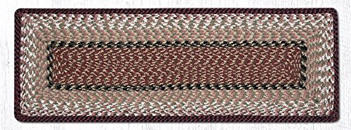 Earth Rugs 53-019 Tablerunner, 13x36, Burgundy/Mustard