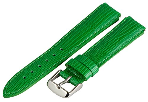 - 18mm x 15mm Leather Classic Lizard Green Interchangeable Watch Band Strap Fits Philip Stein Small