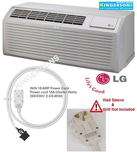 LG LP093CDUC 9300/9500 BTU 12.7 EER PTAC Air Conditioner with Electric Heat - 208/230 Volt with 15 AMP Power Cord (Lg 9300)