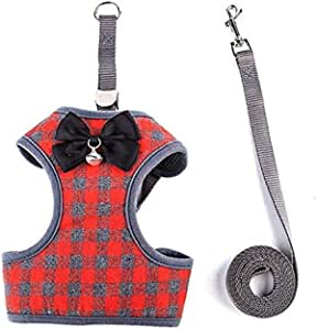 Cat pull rope cat ropes walk, Small Dog Harness and Leash Set No Pull Pet Harness with Soft Mesh Nylon Vest for Small Dogs and Cats