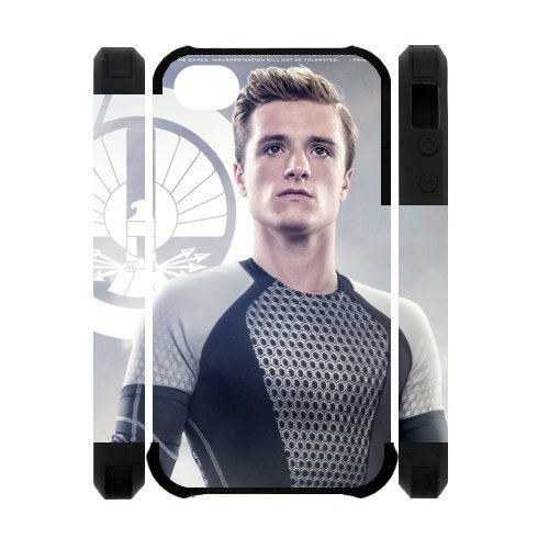 Creative Every New Day The Hunger Games Peeta Mellark Josh Hutcherson Unique Custom IPHONE 4 or 4S Best Polymer+ Rubber 3D Cover Case