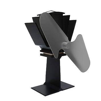 AOHMG Energía de Calor Ventilador Estufa Madera Ventilador para Estufa Unidad de Calor, para Madera/Quemador de leña/Chimenea Distribución eficiente de ...