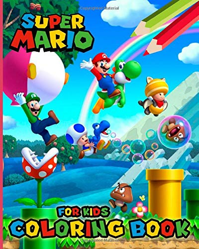 - Super Mario Coloring Book For Kids: Colo- Buy Online In Antigua And Barbuda  At Desertcart