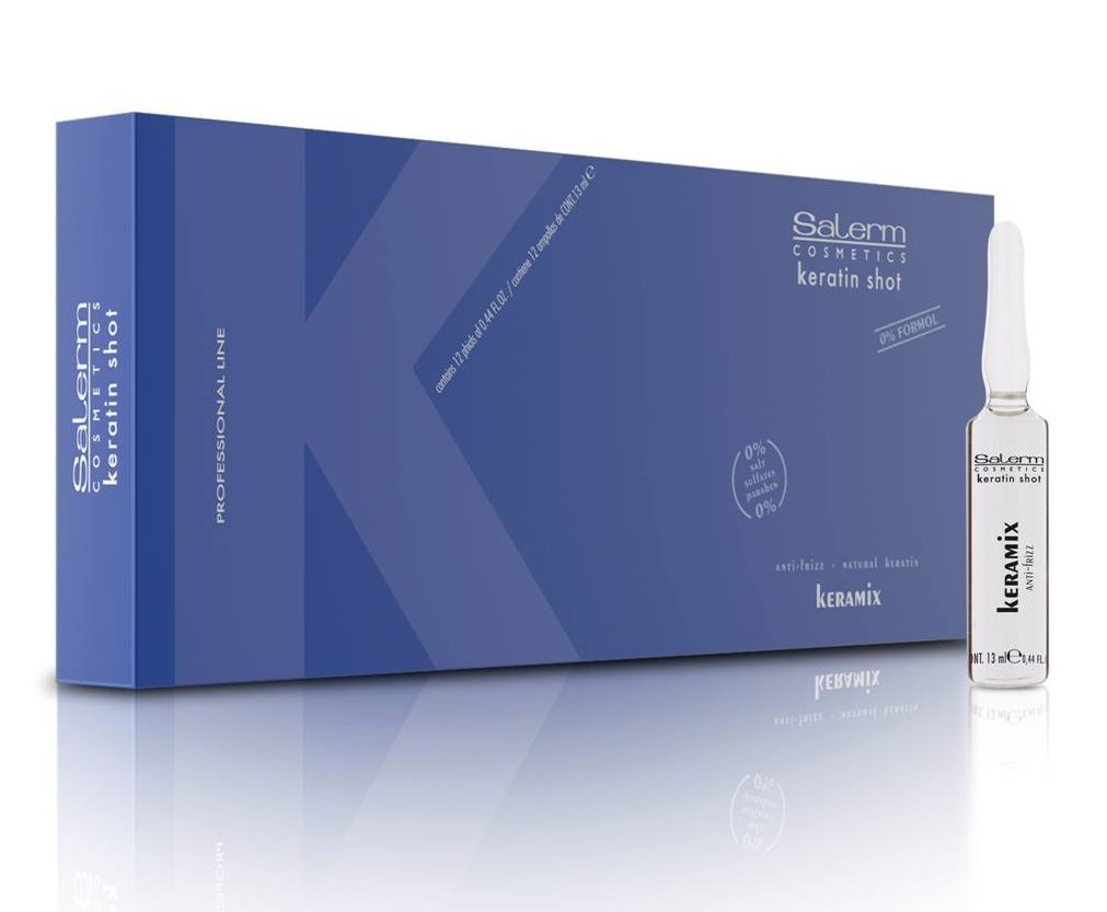 Salerm Cosmetics Keramix Ampolla Bifásica Con Aceite - Paquete de 12 x 13 ml - Total: 13.00ml Lamarvi 163