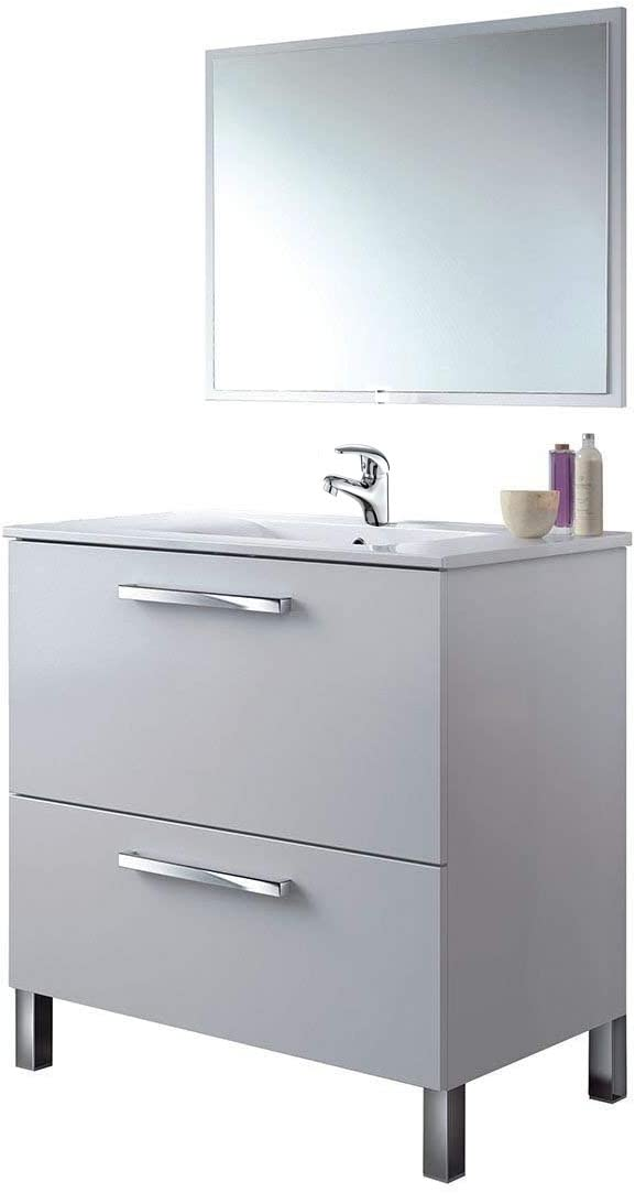 Mueble de Baño con Grifo + Espejo + Lavabo CERÁMICO, Mod Reynolds ...