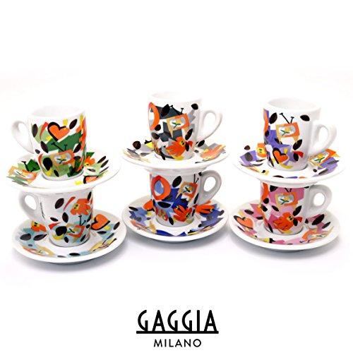 Gaggia Nespolo Set 6 Espresso Cups ()