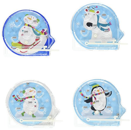 Amscan Festive Christmas Winter Fun Pinball Game Party Activity, Multicolor, 2 1/8