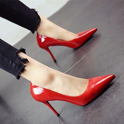 YMFIE Es Sencillo de Estilo Europeo Moderno y Fino con Fuerte Temperamento Sexy Zapatos de tacón Dama Zapatos de Trabajo. b