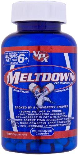 VPX Redline MELTDOWN Fat Burner, bioliquide Capsules, 120-Count Bottle