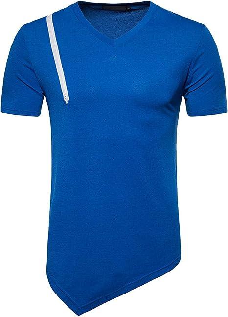 Camisa Negra Rayas Hombre Chaleco Sobrecamisa Hombre Remera de Hombres Camisetas Deportivas Alfabética Manga Corta Casual Top Sencillos Blusa T-Shirt Camisa Cuadros Jodier (XXL, Blue): Amazon.es: Deportes y aire libre