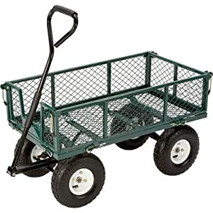 Steel Cart w/ Fold Down Sides TRICAM INDUSTRIES INC Yard Carts FR110