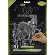 Royal and Langnickel Silver Engraving Art, Mare and Foal