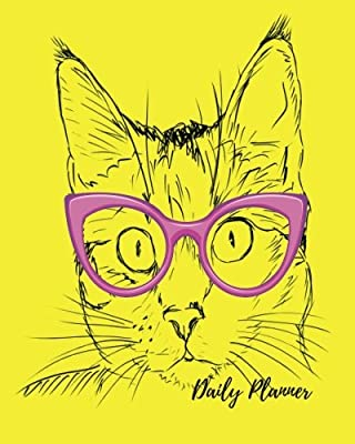 Daily Planner: Yellow cat Cool 100 Days Daily Planner Journal Notebook. Space For Hourly Schedule, Tasks, Outfits, Phone calls, Meals Exercise. Agenda Notepad For Men & Women