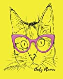 img - for Daily Planner: Yellow cat Cool 100 Days Daily Planner Journal Notebook. Space For Hourly Schedule, Tasks, Outfits, Phone calls, Meals Exercise. Agenda Notepad For Men & Women book / textbook / text book