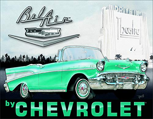 Desperate Enterprises 1957 Chevrolet Bel Air Tin Sign, 16