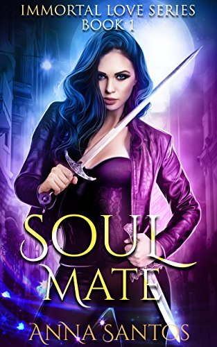 Annabel is a bad-ass hybrid hunter, seeking revenge from the vampire who killed her parents. The last thing she needs is to fall in love with the sexy, persistent werewolf…Soul-Mate (The Immortal Love Series Book 1) by Anna Santos