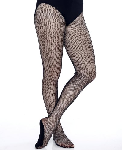 Danskin Fishnets - Danskin Women's Professional Fishnet Backseam Tight,Black,D