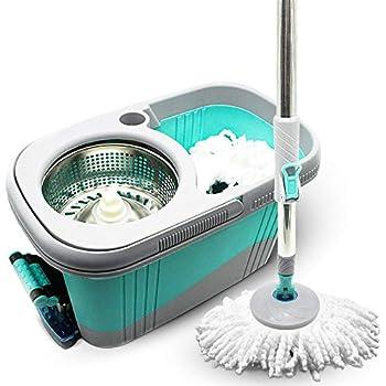 Amazon Com Kp Spin Microfiber Floor Mop Bucket With