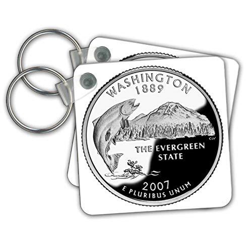 Sandy Mertens Washington State - Quarter of the State of Washington (PD-US) - Key Chains - set of 2 Key Chains (kc_57041_1)