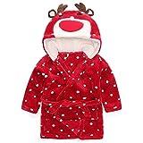 Baby Girls Robe Animal Coral Fleece Unisex Infant Hooded Sleepwear Pjs