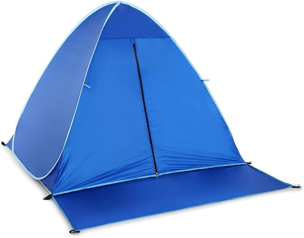 FUSSUF Protection Tente Automatique UV Camping en Plein air Tente instantanée Pop Up Tente de Plage légère Sun Tente Shelter (Color : Style 1 Green) Style 1 blue